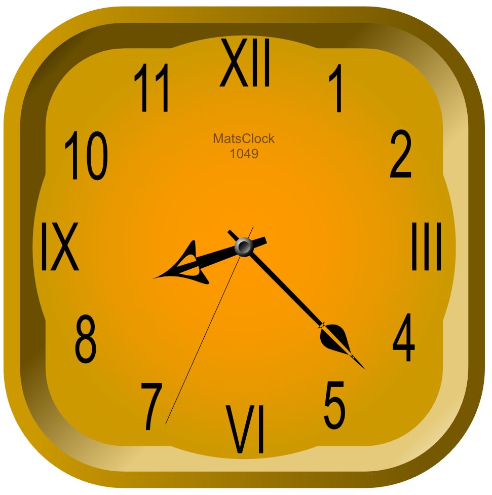 MatsClock 1049 Square Free Flash Clock for PowerPoint