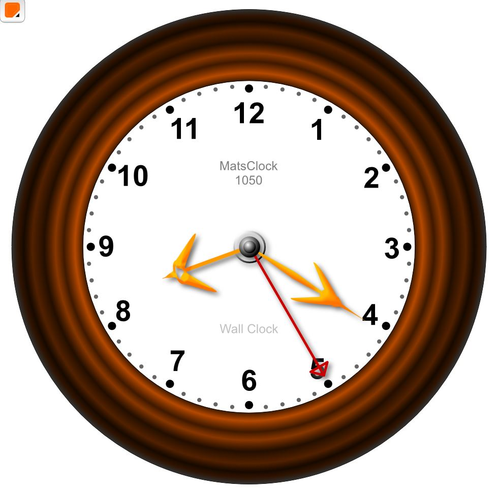 MatsClock 1050 Free Flash Clock for PowerPoint Presentations