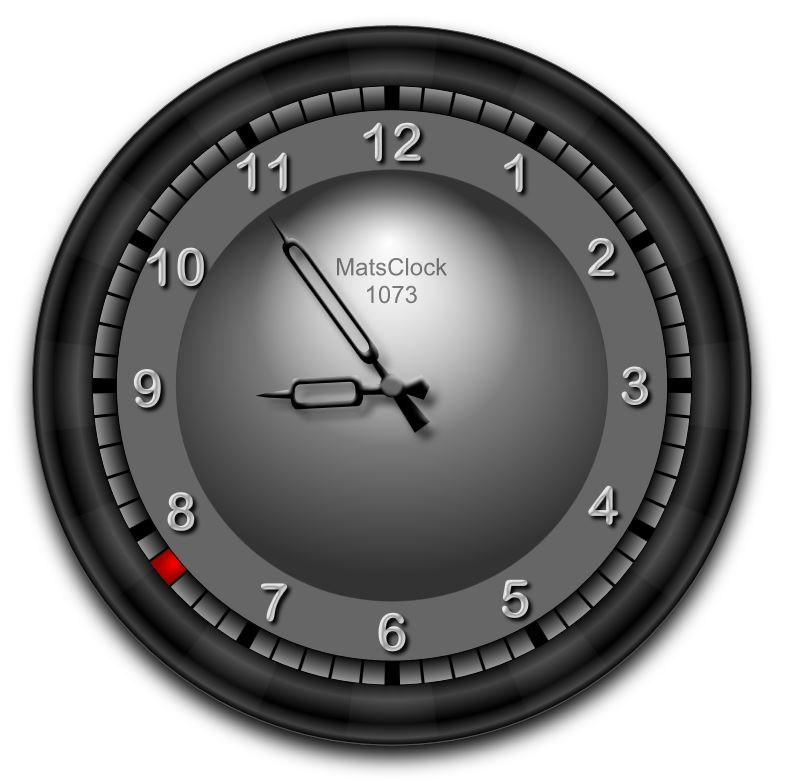 MatsClock Free Flash Clock 1073