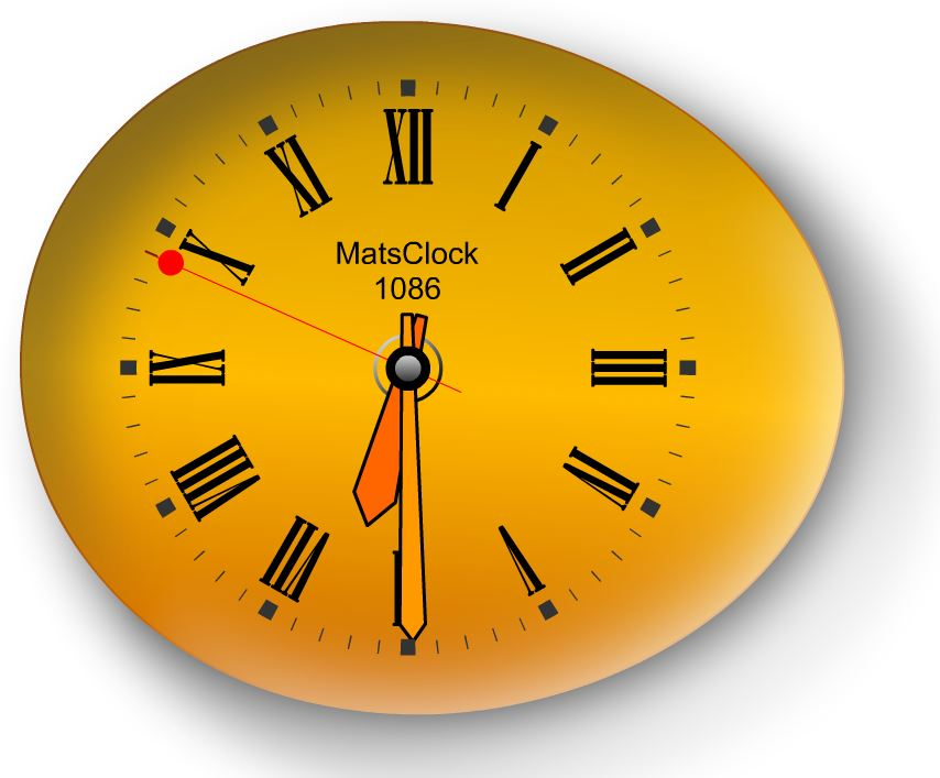 MatsClock-1084 Day Night Analog Clock