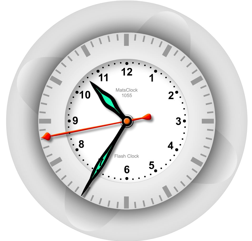 MatsClock 1055 Free Flash Clock PowerPoint Clocks