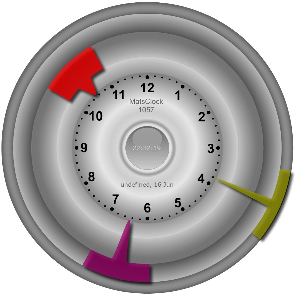 MatsClock 1057 PowerPoint Clock for Websites