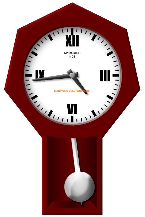 Grandfather Clock Pendulum Matsclock