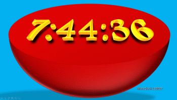 Free PowerPoint Digital Clock