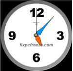 Free Flash Clock MatsClock 1017